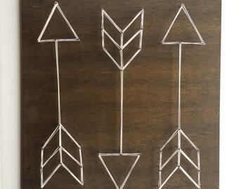 MADE TO ORDER Arrow Trio String Art, Arrow String Art