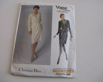 Vintage Vogue Christian Dior 2384 Pattern