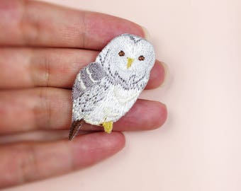 handmade owl embroidery iron on patch
