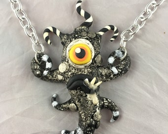 Toothy Tentacled Tim Burton Monster Necklace