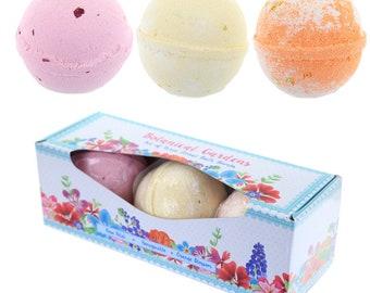 Set of 3 garden bathing bombs-floral fragrances