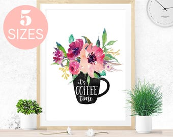 Coffee Sign, But First Coffee, Coffee Poster, Coffee Print, Coffee Cup, Coffee Art, Kitchen Wall Art Downloadable Prints Kitchen Sign Coffee