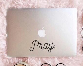 Pray (8), Laptop Stickers, Laptop Decal, Macbook Decal, Car Decal, Vinyl Decal