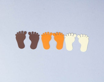 Baby Feet Confetti, Fall Baby Feet Confetti, Fall Colors, Baby Shower, Baby Sprinkle, Fall Color Confetti, Set of 60
