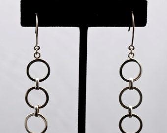 Geo12 - Earrings - Sterling Silver