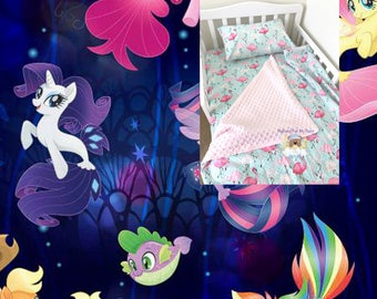 Disney Toddler Bedding Set My Little Pony Ponies Toddler Bedding Blanket Girl Toddler Bedding Ensemble Fitted Sheet Pillow Case 100% Cotton