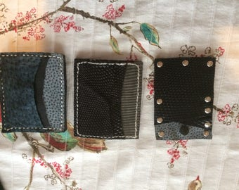 Handcrafted leather front pocket wallet