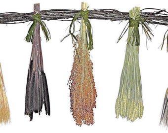 Dried Grain Swag | Decorative Swag | Mixed Grain Swag | Wheat Swag