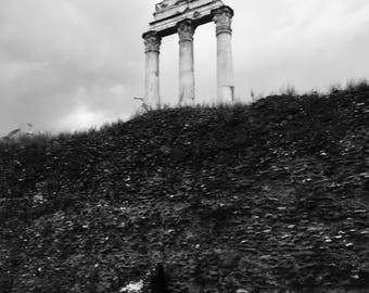 Standing Atop - Roman Forum- Rome- Italy - Travel Photography - Home Decor - Wall Art