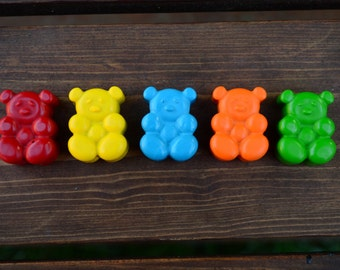 Teddy Bear Crayons set of 10 - Teddy Bear Party Favors - Teddy Bear Party - Bear Crayons - Bear Party Favors - Kids Party Favors - Gifts