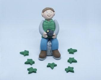 Personalised Handmade Sugar Man Photographer Camera Birthday Cake Topper/Decoration
