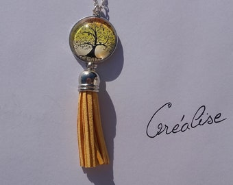 Tree of life yellow necklace