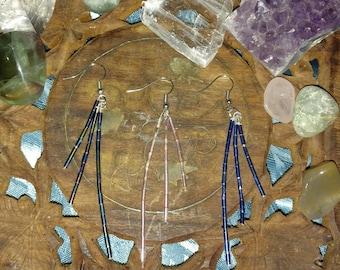 Three Strand Bead Earrings