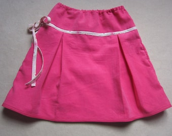 girl Fuchsia corduroy skirt