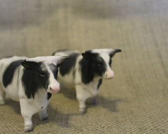1960's Cow Salt and Pepper Shakers