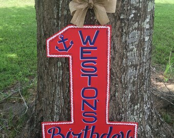 Birthday Number Door Hanger