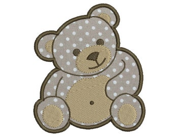 Instant download bear baby embroidery design applique