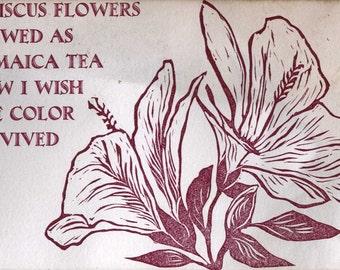Hibiscus Flower Postcard