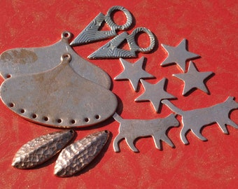 Special of the Day - 12 pieces Mix-Metal Shapes these are Left Overs Blanks #16