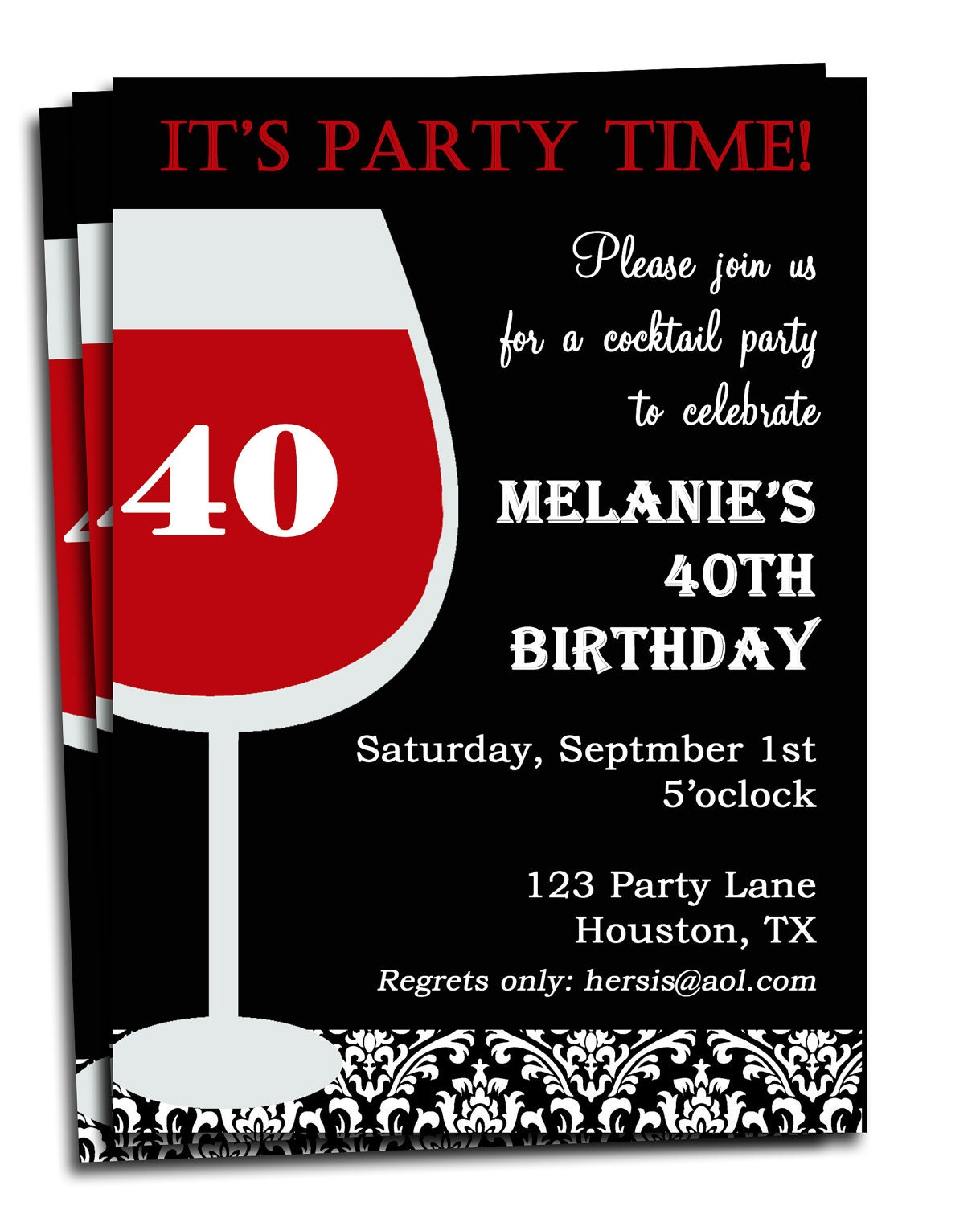 Adult birthday invitation printable personalized for your zoom stopboris Image collections