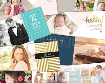Facebook Timeline Cover Templates - 18 Piece Bundle - 1550