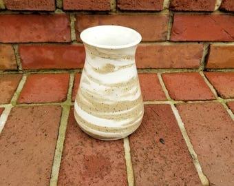 Marbled Stoneware Vase Handmade Wheel Thrown Pottery