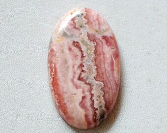 44 Cts Natural Rhodochrosite Oval Shape Pink Rhodochrosite Gemstone Cabochon 34x20x5 MM R16372
