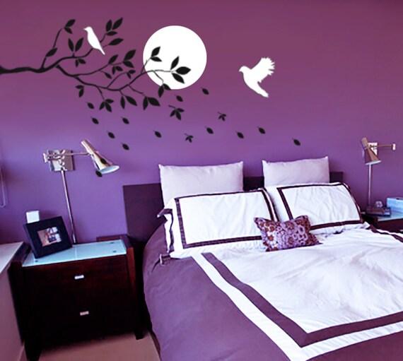 Uccelli che volano gli stencil stencil muro camera da letto