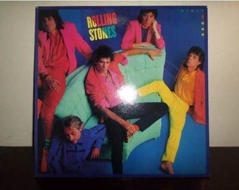 Vintage 1986 Vinyl LP Record Dirty Work The Rolling Stones Near Mint Condition 8520