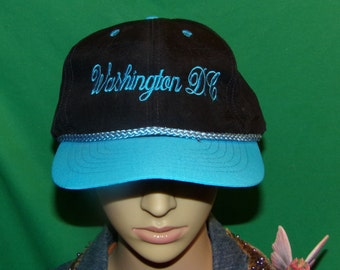 Washington DC Hat, Embroidered Baseball Cap, Souvenir Hat, about 30 years old!
