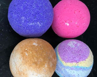Bombs Away Bath Bomb Set - 4 bath bombs - Choose your favorite scent or ask for a surprise! - Great gift idea.