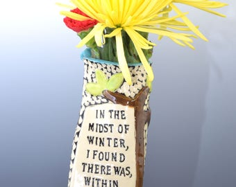 In the Midst of Winter vase