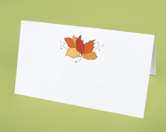 Fall Wedding Place Cards, Autumn Leaf Place Cards, Fall Leaves Place Cards, Thanksgiving Place Cards, Fall Place Cards, Fall Table Setting