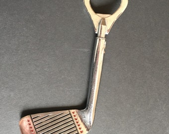 Golf Club Bottle Opener Metal Heart Vintage / Father's Day / Made in Japan