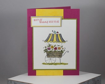 Flower Cart Friendship Card