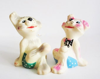 VINTAGE rubber DOGS. Use them to decorate your home, collect, play.
