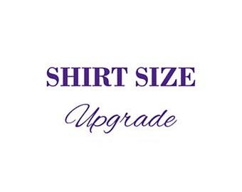 Shirt Size Upgrade