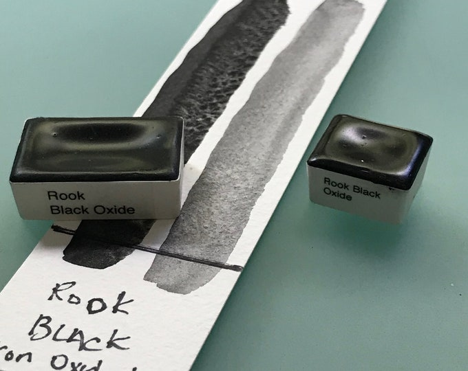 Handmade Watercolor paint Rook Black Iron  artist paint HALF and WHOLE  pans - Non toxic