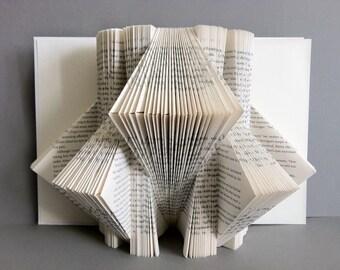 Plegado libro Arte 3D libro escultura libro Origami arte página del libro / / plegado libro escultura libro tema guardería / escultura del libro / libro de arte