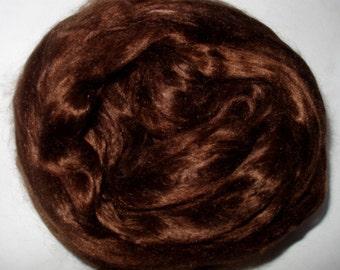 20g (33.50 Euro/100g) 0.7oz mulberry silk fiber, silk roving, MOCHA, felting fiber, doll hair, silk hair,nuno felting,brown hair,pure silk,