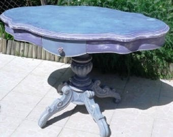 Violin napoleon III pedestal table