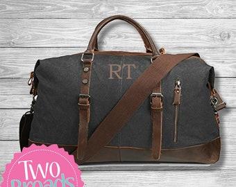 Groomsmen Gift SET OF 9 Personalized, Mens Weekend Travel Duffel Bag Canvas Weekender, Will you be my Groomsmen, Groomsmen Gift, Monogrammed
