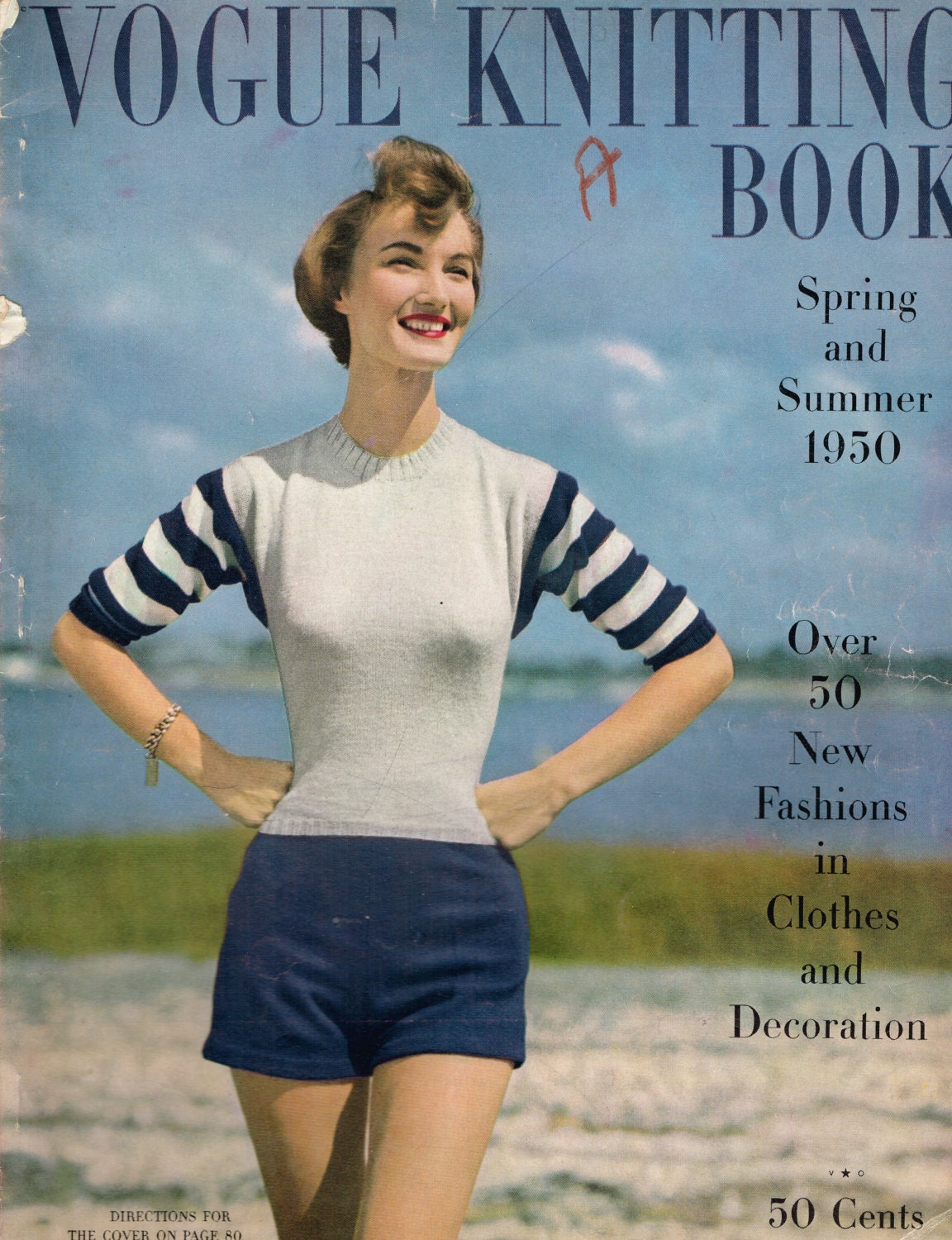 Vogue Knitting Book, Spring and Summer 1950, Gorgeous Vintage ...