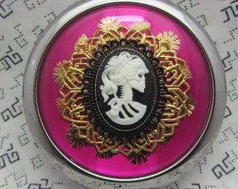 Compact Mirror Miss Lolita The Skeleton Goddess Comes With Protective Pouch