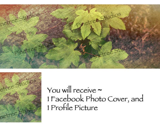 Bronzed Leaves ~ Facebook Blank Cover Photo and Profile Picture
