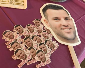 Custom Heads on a Stick PDF - Bachelorette Party Props - Birthday Party Props - Fiancé on a stick! - Photo Booth Props - PDF Only