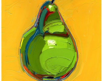 Print - Phyllo's Pear -10X10-Modern Fine Art