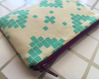 Zipper pouch - change purse - southwest print - bohemian wallet - coin purse - zip pouch