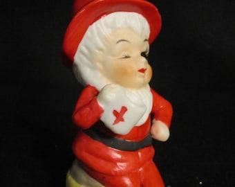 Christmas Pixie Elf Santa Figurine    (1207)