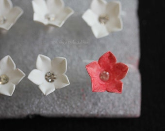 Jeweled Jasmine Flowers - Gum Paste Wedding Cake Decoration